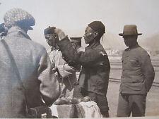 ANTIQUE 1920s PEKING CHINA NANKOU TRAIN STATION FOOD SCALE POLICE ? ARMY ? PHOTO