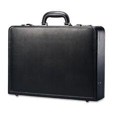Samsonite Lawyers Mens Leather Attache Briefcase Laptop Case Bag Black C1