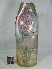 Sehr seltene Künstler Vase Glashütte Eisch / very rare Eisch art glass vase 36cm