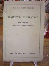 (MANUALI-MATEMATICA)BARZAGLI: GEOMETRIA ELEMENTARE