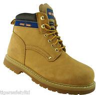 Pro Man PM9401C S1P Honey Nubuck Steel Toe Cap Safety Boots Work Boots Footwear