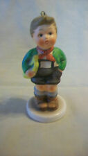 Schmid Collectible Figurine, Boy With Horn, 1983 First Edition