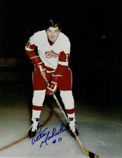 PETE MAHOVLICH Signed DETROIT RED WINGS 8x10 Photo RARE