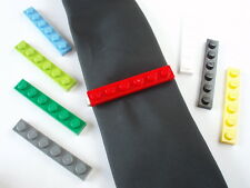 Tie Slide made with LEGO bricks weddings groom cufflinks pin favour clip plate