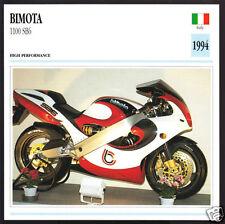 1994 Bimota 1100cc SB6 (1074cc Suzuki Engine) Italy Motorcycle Photo Spec Card