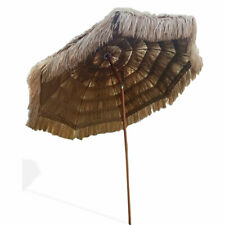 Thatched Tiki Umbrella Beach Patio 8ft Pool Sun Shade Hawaiian Tropical Umbrella