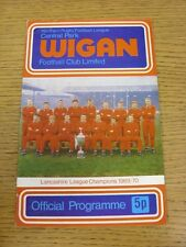 23/04/1971 Rugby League Programme: Wigan v Oldham