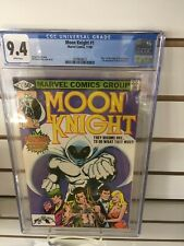 MOON KNIGHT #1 (Marvel Comics, 1980) CGC Graded 9.4! ~WHITE Pages