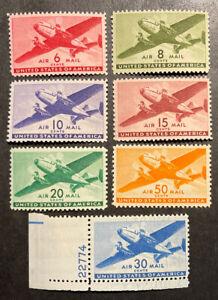 TDStamps: US Airmail Stamps Scott#C25-C31 (7) Mint NH OG