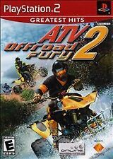 PS2 Playstation 2 - ATV Offroad Fury 2 - case, disc, manual - tested, working