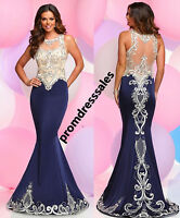 Sexy Beaded Lace Mermaid Party Prom Dress Celebrity Formal Pageant Evening Gown
