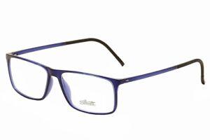 Silhouette Men's Eyeglasses SPX Illusion 2941 (2892) 6051 Indigo Optical Frame
