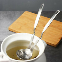 Anti-dropping Skimmer Spoon Stainless Steel Strainer with Hanging Hole