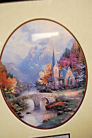 Thomas Kinkade Mountain Chapel Accent Print with COA   M3847