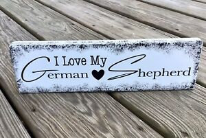 GERMAN SHEPHERD Handmade Dog Lover Gift ~ Country Farmhouse Sign Made in the USA