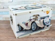 Just married Vintage car wedding chest memory box keepsake card box
