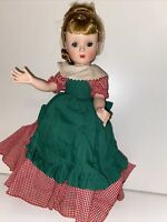 "Vintage Madame Alexander Little Women Meg 14"" Rare Bent Knee Doll 1955"