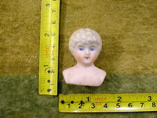 "excavated vintage victorian painted Doll head size 1.6"" age 1860 Hertwig A 11501"