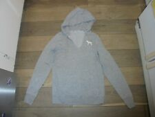 PINK Victoria's Secret gray hooded logo sweatshirt size XS