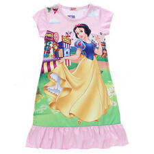 Kids Girls Nightie Nightdress Disney Character Pyjamas Sleepwear Nightwear Dress