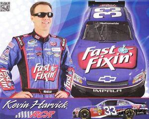 2012 Kevin Harvick Fast Fixin' Chevy Impala NASCAR postcard