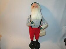 Byers Choice 1984 Rare Working Santa with Pencil & List