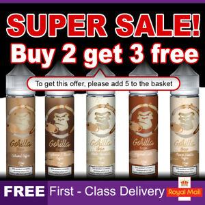 Gorilla Bean E Liquid 0mg Cheap Vape Juice E-Cigs Nicotine E-Liquid