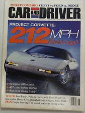 Car And Driver Magazine Project Corvette Ford Escort June 1996 NO ML 051615R2