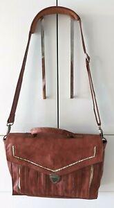Nancybird Leather Satchel Laptop Shoulder Bag or Briefcase Melbourne Designer