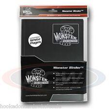 Monster Album Binder 9 Pocket Black With 20 White Sideloading Pages