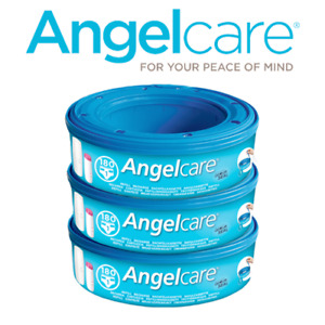 Angelcare Nappy Disposal System Refill Cassettes Bag Sacks 3 Pack - AC1100