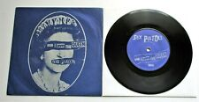 """Sex Pistols - God Save The Queen UK 1977 Virgin 7"""" P/S Silver Label Text"""