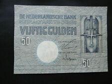 NIEDERLANDE BANKNOTE 50 GULDEN 1931 IN SEHR GUTER ERHALTUNG !