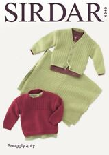 Sirdar 4940 Sweater, Cardigan and Blanket Knitting Pattern  - 4 PLY
