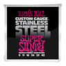 Ernie Ball Super Slinky Stainless Steel Wound Electric Guitar Strings 9-42