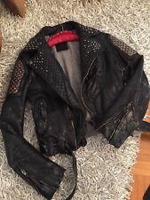 Señora chaqueta de cuero de HTC hollywood Trading Company talla M (s)
