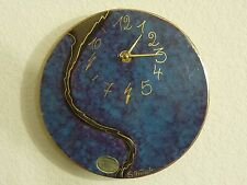 Sibylle Traub Keramik Ceramic Wall Clock / Hand Crafted / Germany / 9""