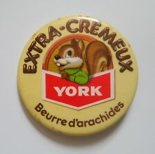 Vintage - York Peanut Butter - Advertising Pinback / Button - French