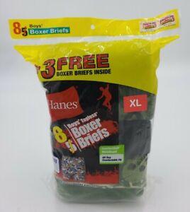 Hanes Boys Comfortsoft Tagless Boxer Briefs 8 Pair Assorted styles Sz XL (18-20)