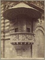 Prato Italia Foto Alinari Vintage Albumina C 1880