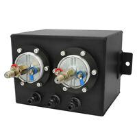 3L Fuel Swirl Surge Pot Tank + 2 Pcs External 044 Dual Fuel Pump For Universal