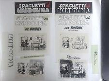 Lot de calques cellos celluloïd Les Tontons Spaghetti Attanasio Ed. les Archers