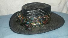 Vintage Miriam Lefcourt Colorful Straw Hat Handcrafted in Italy Colorful Detail