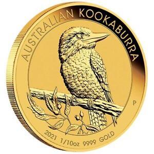 Australien - 15 Dollar 2021 - Kookaburra - Anlagemünze - 1/10 Oz Gold ST