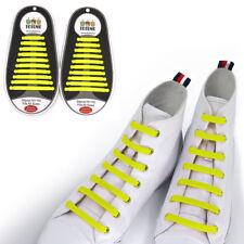 TOTOMO Yellow No-Tie Elastic Shoelaces Silicone Tieless Shoe Laces for Ecco