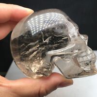 Rare!!! 390g   Awesome Natural Crystal  Quartz Skull Healing Carving  Delicacy