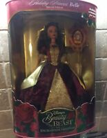 1997 DISNEY HOLIDAY PRINCESS BELLE THE ENCHANTED CHRISTMAS BARBIE DOLL New Inbox