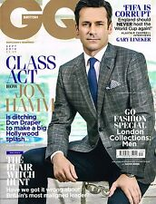 GQ UK 09/2014 JON HAMM Julia Restoin Roitfeld RICHARD KEEP Gary Lineker @NEW