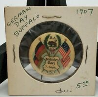 vintage German day Buffalo ,Ny 1907 pin back