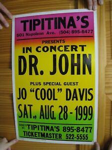 Dr. John Poster 1999 Tipitina's Jo Cool Davis Doctor Dr